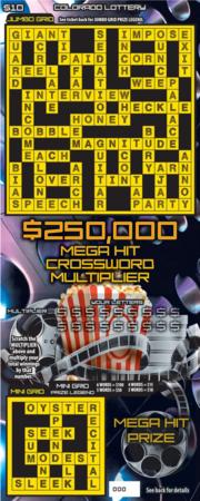 $250,000 Mega Hit Crossword Multiplier