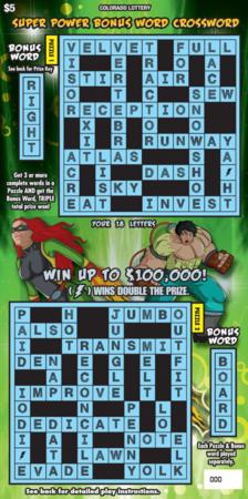 Super Power Bonus Word Crossword