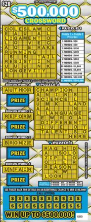 $500,000 Crossword