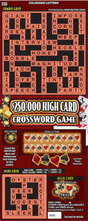 $250,000 High Card Crossword