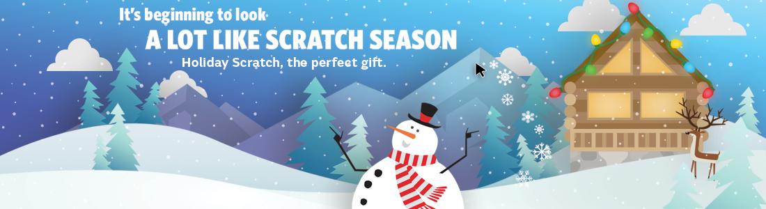 Holiday Scratch Winter Scene